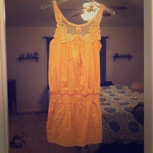 BCBG Yellow Embroider Dress